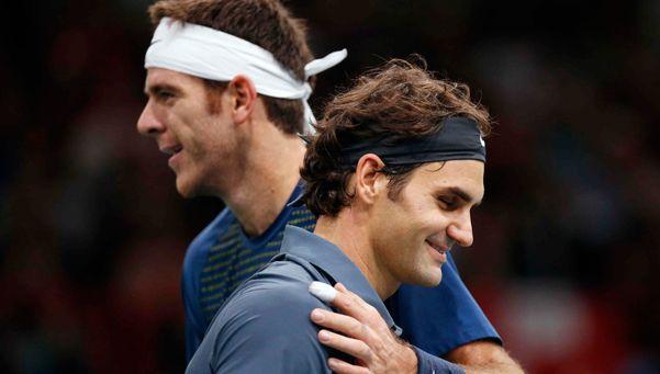 Otro regalo para Del Potro: ahora lo felicitó Federer