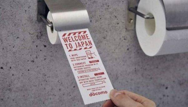 Japón: instalan papel higiénico en baños para limpiar el celular