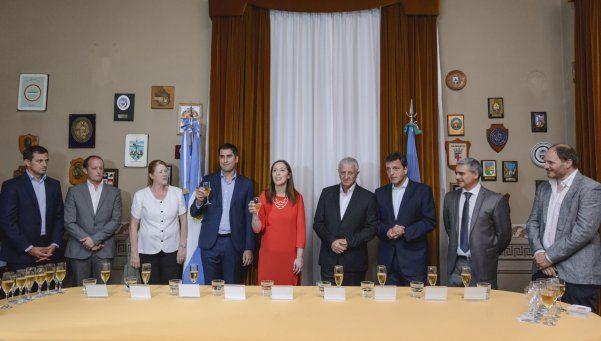 Vidal brindó con Massa y Margarita Stolbizer
