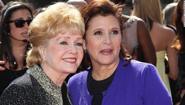 "Murió Debbie Reynolds, la mamá de la ""Princesa Leia"""