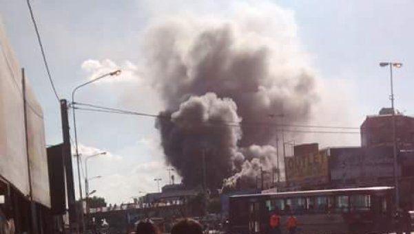 Se incendiaba un depósito de electrodomésticos en La Matanza