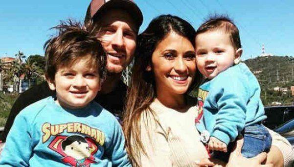 Fotos | Messi y Antonella bautizaron a sus hijos en Rosario