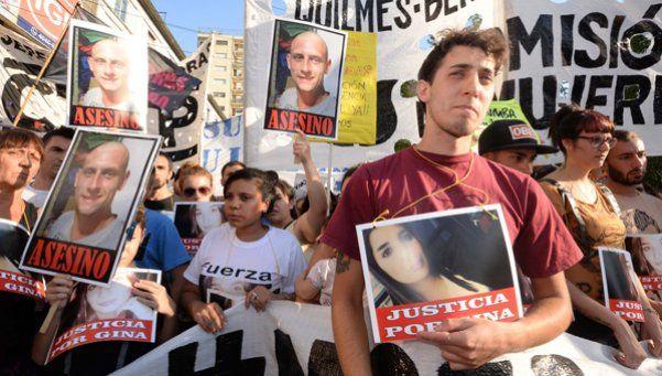 Video | Quilmes: marcha por Gina, la joven quemada por su novio