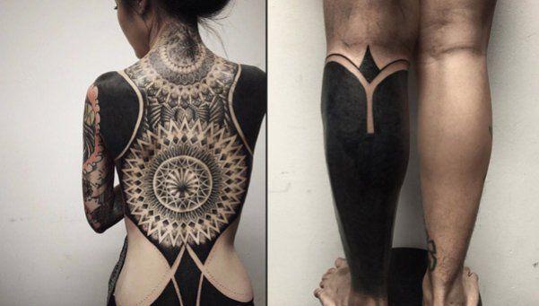 Los riesgos de los tatuajes blackout, moda que atrae a famosos