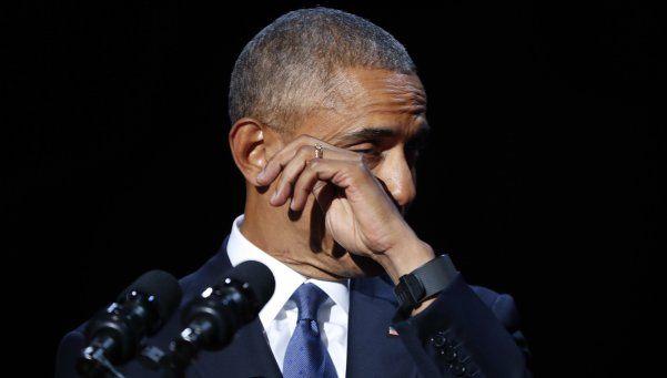 Emocionado, Obama se despidió de la Presidencia
