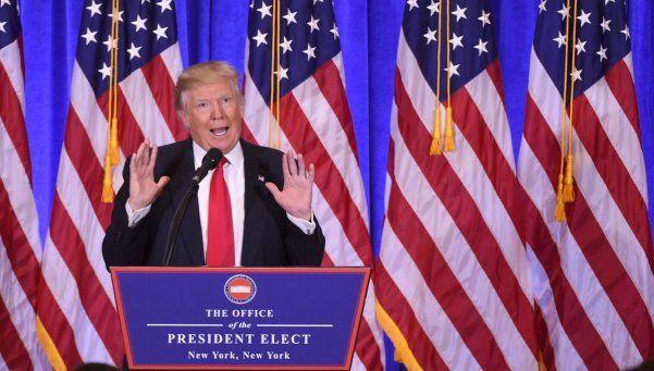 La furia de Donald Trump en su primera conferencia de prensa