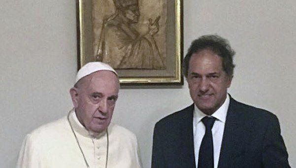 El Papa Francisco recibió a Scioli en el Vaticano