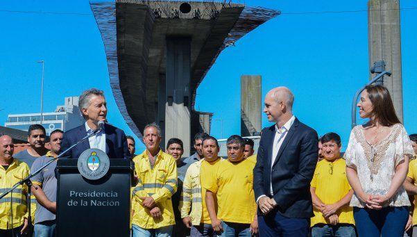 Macri, Larreta y Vidal inauguraron las obras del Paseo del Bajo