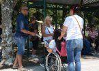 Caminata por los derechos de discapacitados levantó polvareda en San Vicente