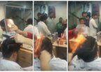Fuego en la cabeza, la última moda en peluquería