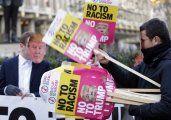Protestas en medio del desfile de asunción de Trump