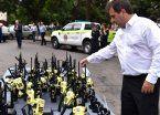 Ritondo entregó handys destinados a Seguridad Siniestral y Bomberos de Policía