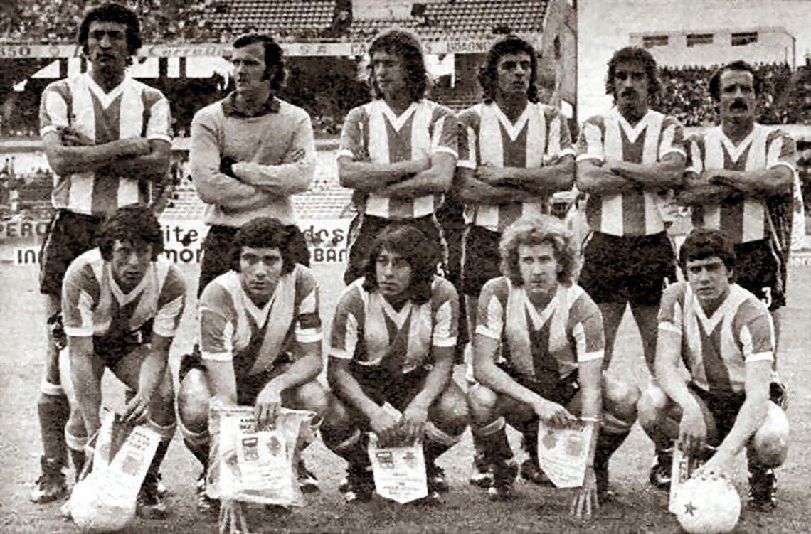 El primer partido que dirigió Menotti fue frente a España en 1974.