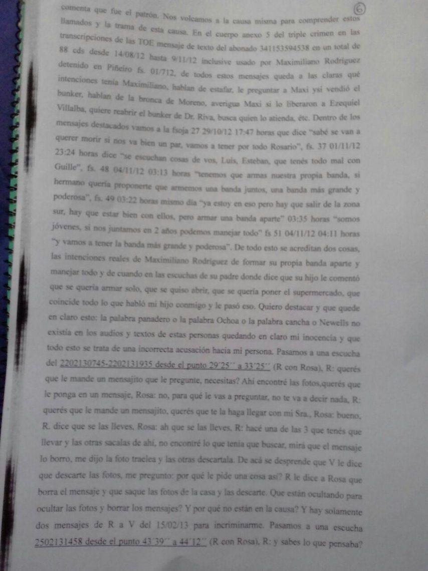 Exclusivo: La declaración de Ochoa.