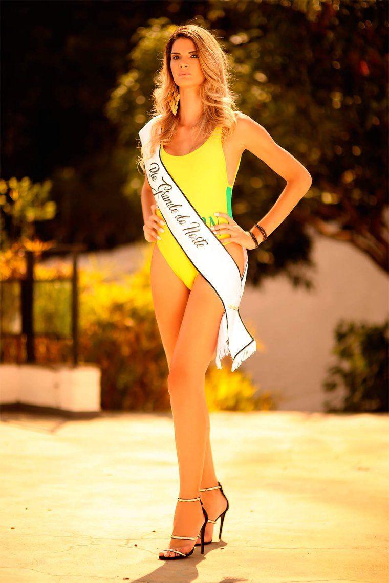 <p>Giovanna Spinella (28), la modelo transgénero cumple su sueño de competir en un certamen de belleza </p>