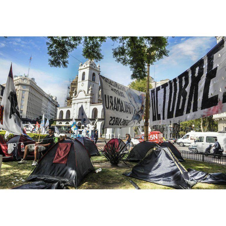 Milagro Sala: se fueron casi todos del acampe en Plaza de Mayo