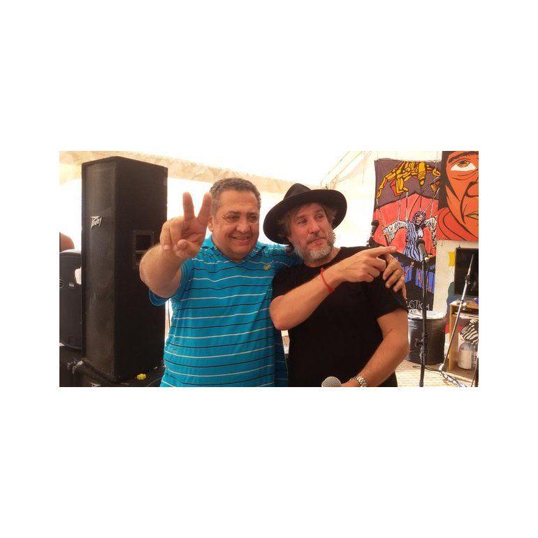 Reapareció Boudou: foto con DElía en el acampe kirchnerista