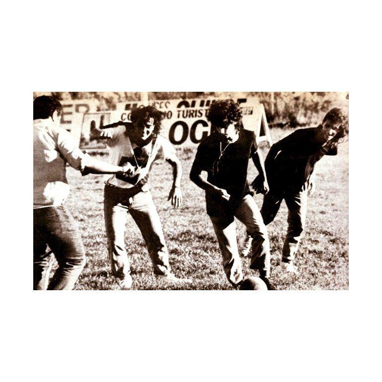El día que los Soda Stereo jugaron al fútbol en Chile