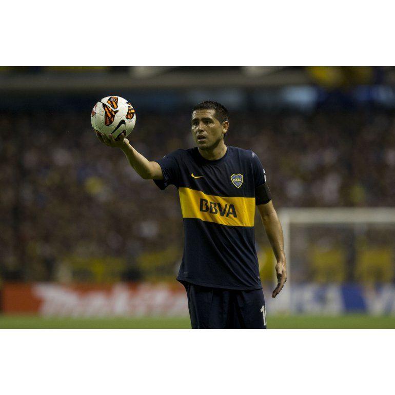 Riquelme es el máximo goleador de Boca en la Copa Libertadores