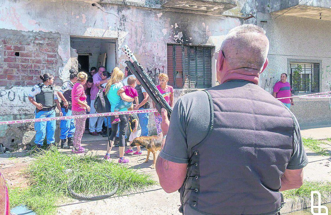 Desalojan una vivienda tomada en Monte Chingolo