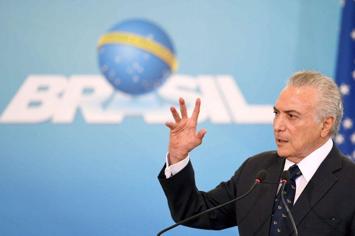 Escándalo en Brasil: Temer fue grabado dando su aval a un soborno