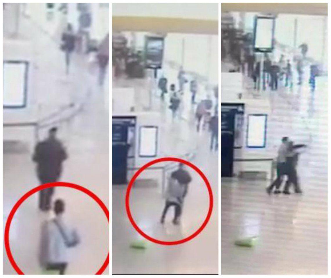 Video | El momento en el que terrorista ataca a soldado y le roba el arma