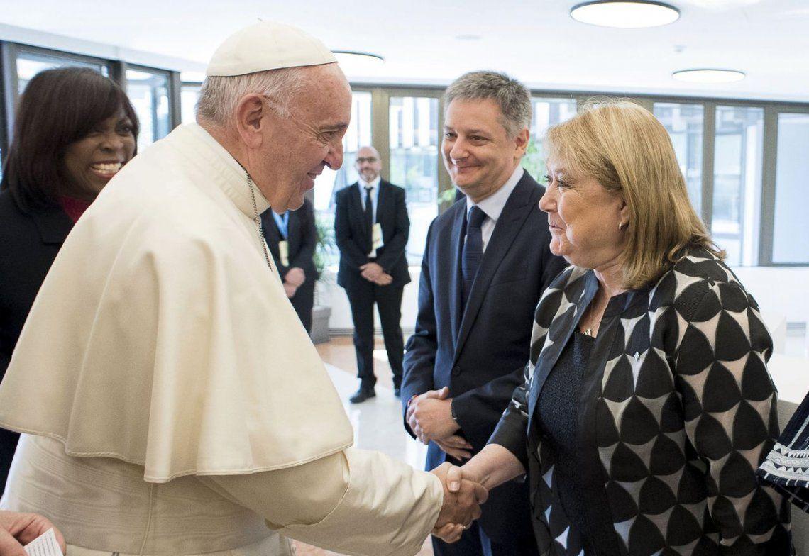 Malcorra se reunió con el Papa Francisco en el Vaticano