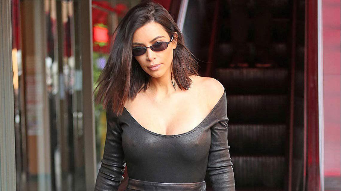 Kim Kardashian fue a un evento... ¡sin pantalones!