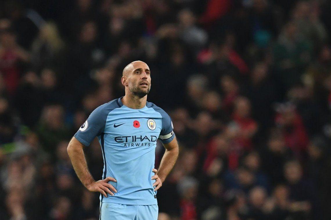 Zabaleta se va del Manchester City y Guardiola lo tildó de leyenda