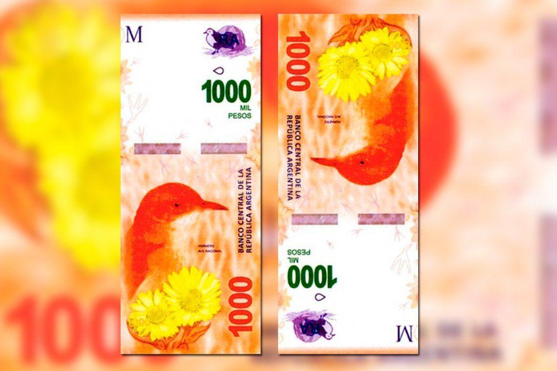 Así es el billete de 1000 pesos que comenzará a circular en octubre