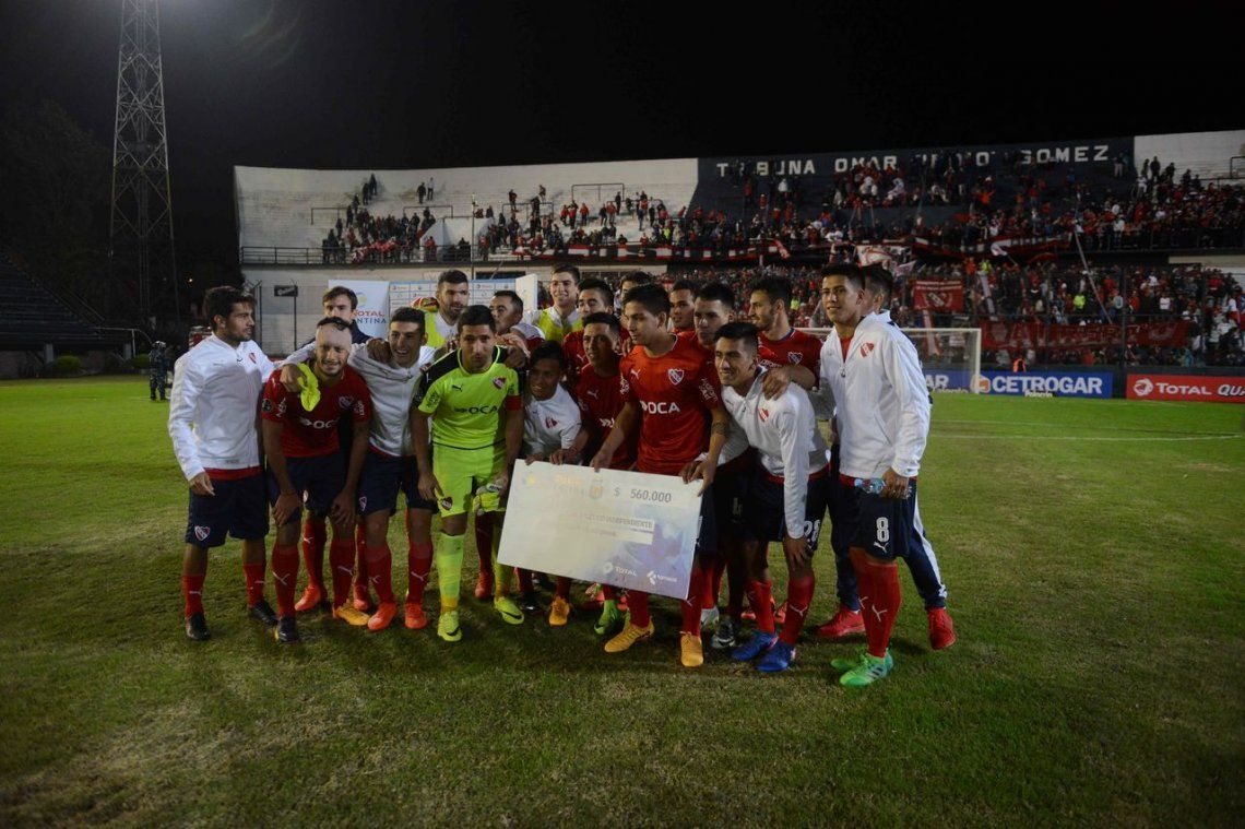 Independiente, un cheque en blanco a las sonrisas