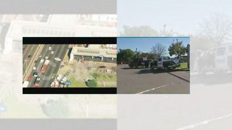 Terrible tiroteo en la Riccheri: policía recibió 7 balazos por piratas del asfalto