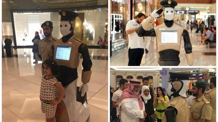 Dubai ya tiene a su primer robot policía en acción