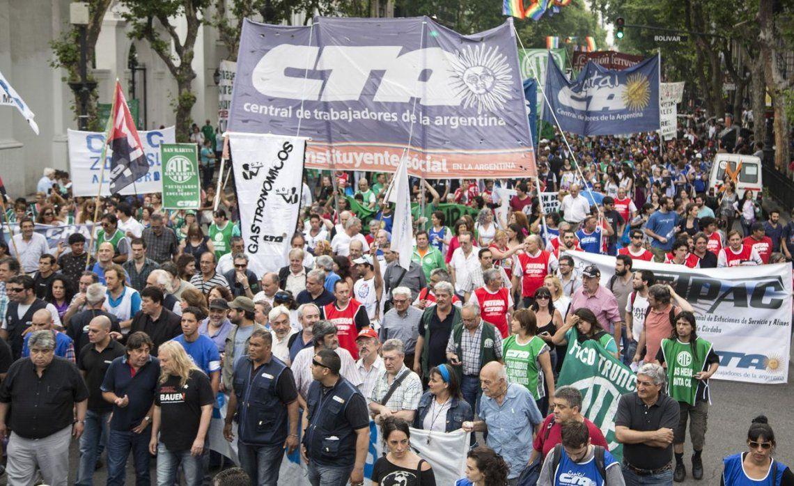 CTA anunció un paro de 36 horas con movilización para el 24 de septiembre
