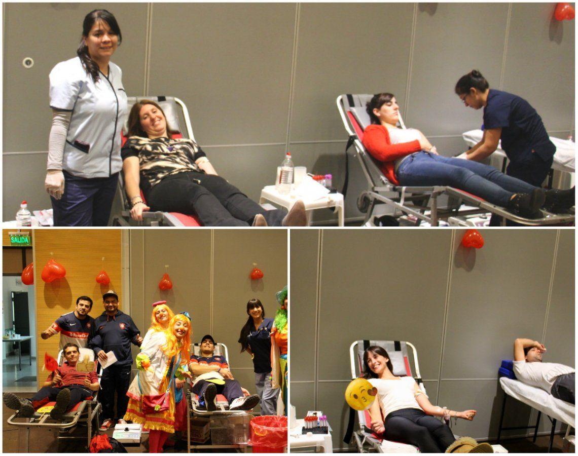 Decenas de vecinos donaron sangre en Hospital El Cruce