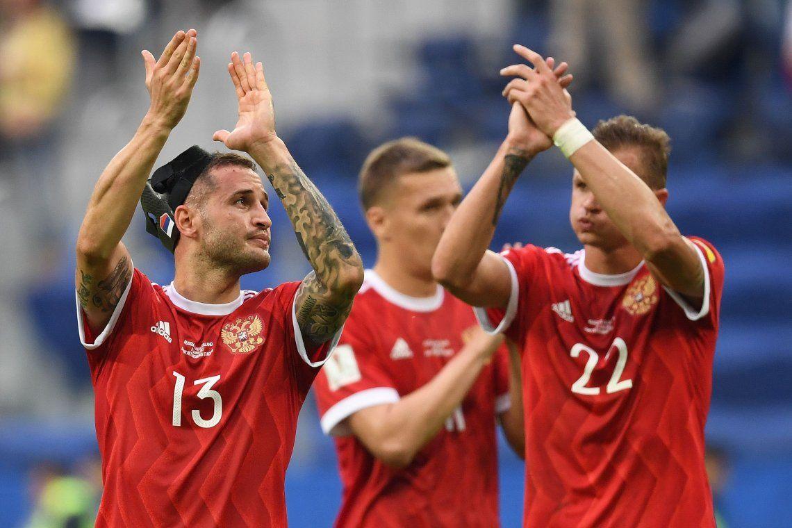 Rusia ganó en su debut y puso contento a Putín