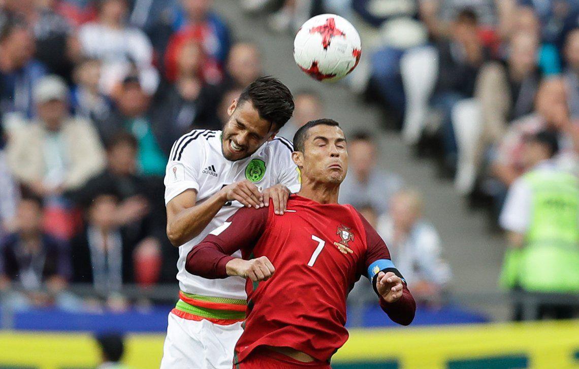 En el final, México le ahogó el debut con triunfo al Portugal de Cristiano