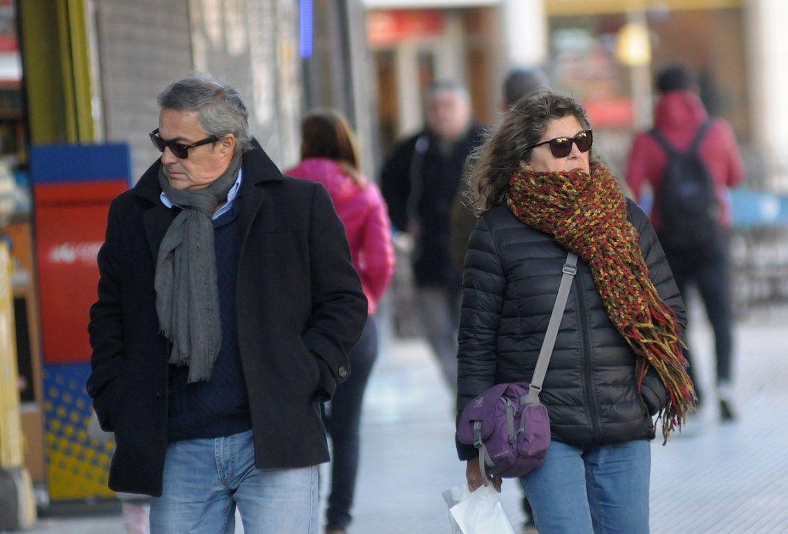 El frío cubrió el centro del país con temperaturas bajo cero