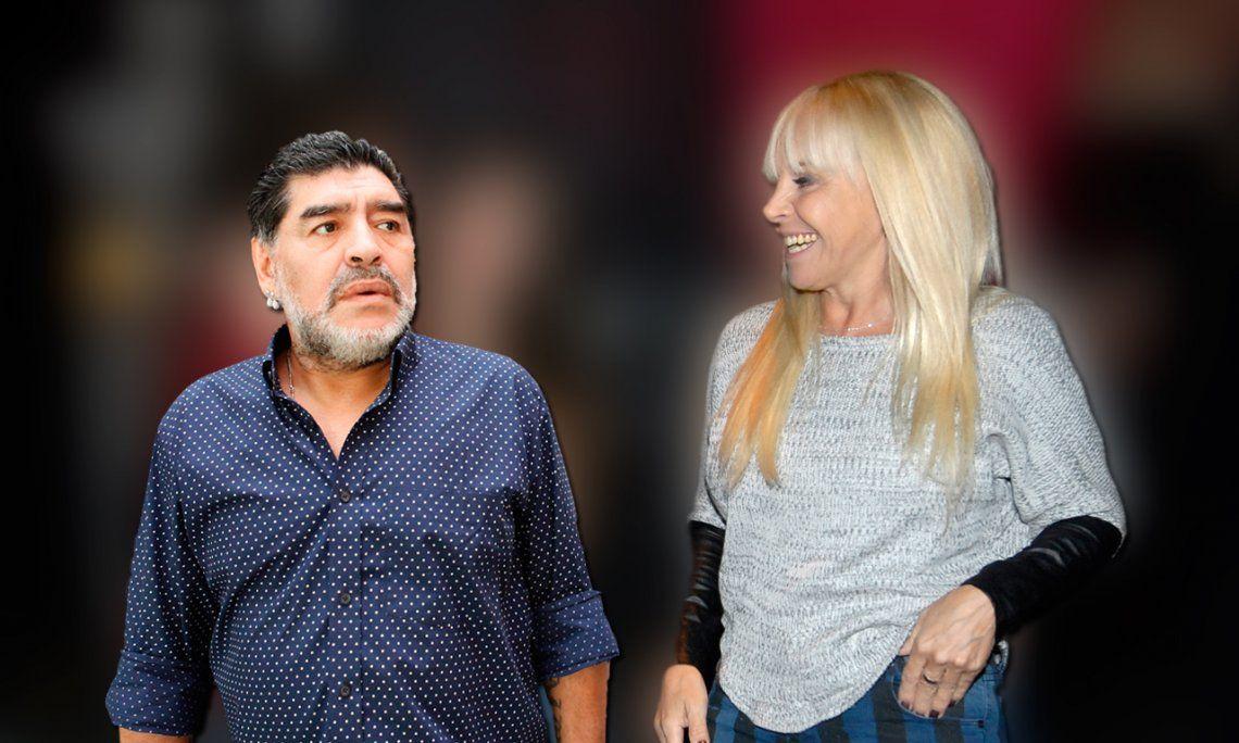 Claudia Villafañe, irónica: Ojalá Diego siga teniendo más hijos y nietos