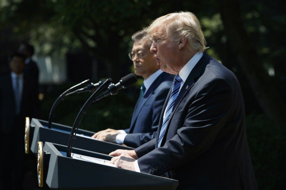 Trump se cansó de Corea del Norte y pide una respuesta decidida