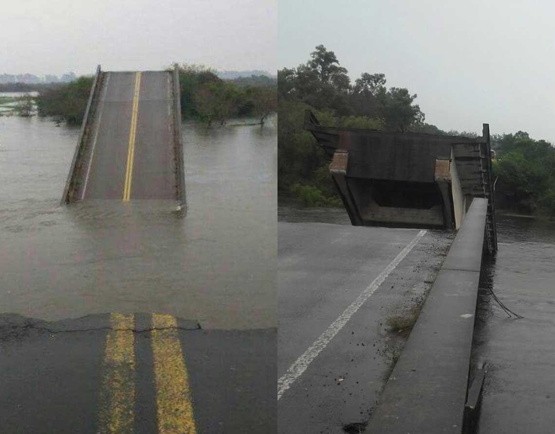 Hallaron el cuerpo del hombre que cayó al río en el puente derrumbado
