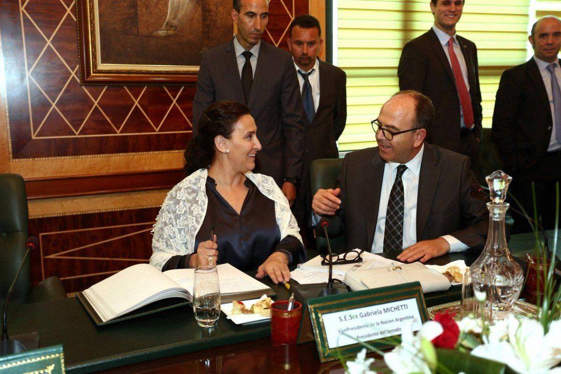 Resultado de imagen para Michetti con jefe de Gobierno de Marruecos, Saadeddine Othmani