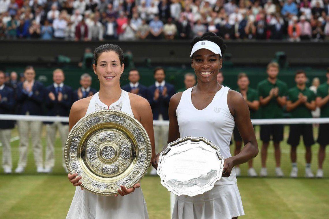 Muguruza dejó a Venus sin su sexta corona en Wimbledon