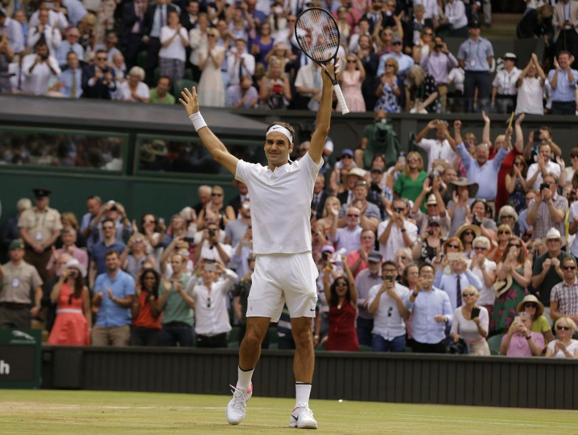Federer, la máquina: aplastó a Cilic en Wimbledon y ganó su 19° Grand Slam