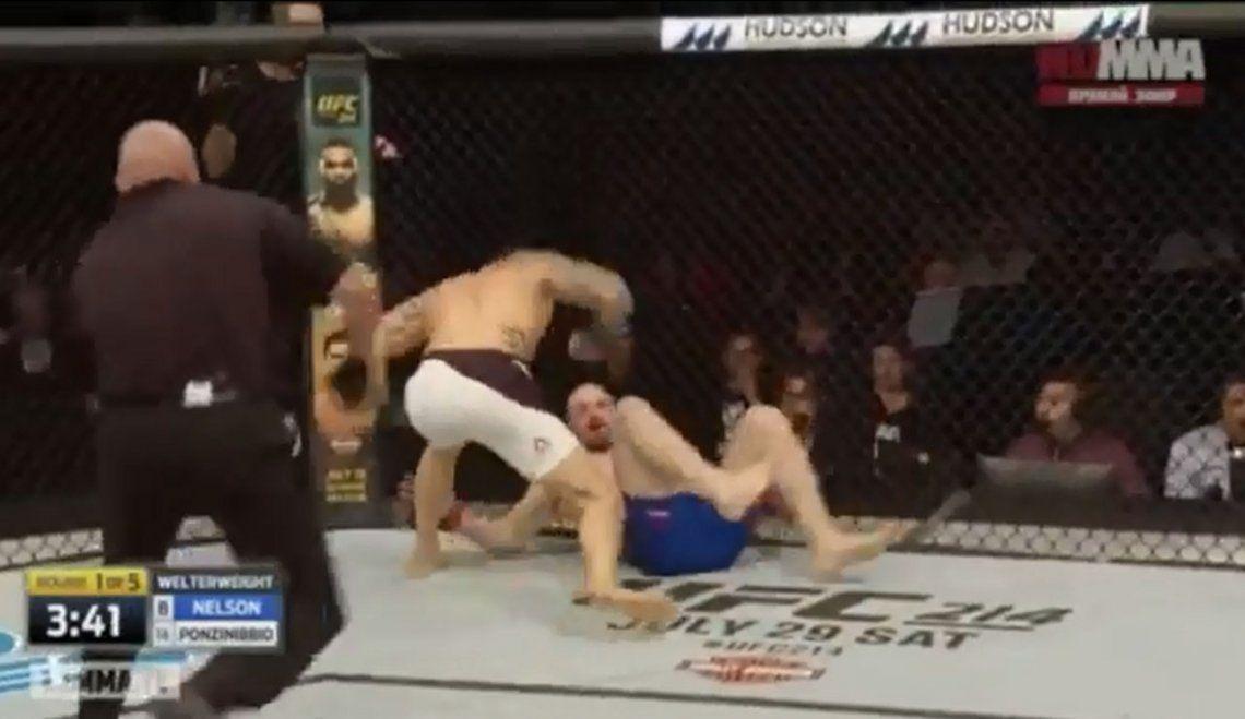 El tremendo KO de Santiago Ponzinibbio en la UFC