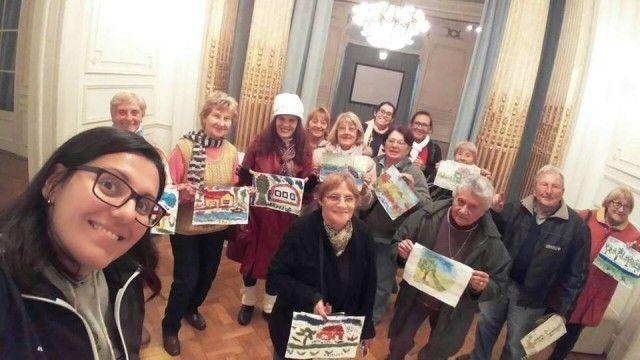 Adultos mayores del polideportivo Delfo Cabrera visitaron el Museo de Arte Tigre