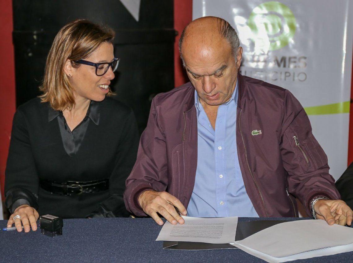 Lanús firmó convenio de cooperación con la oficina anticorrupción