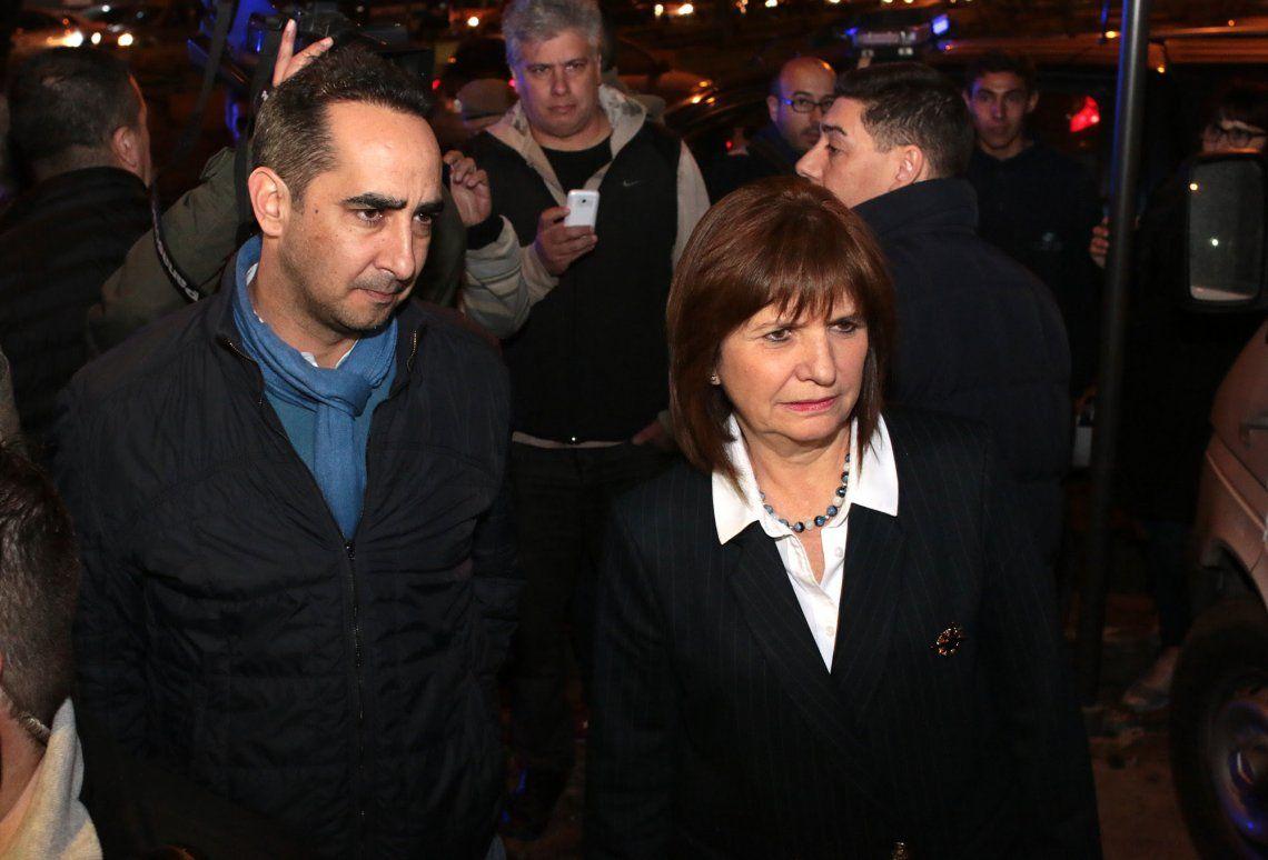 Bullrich, Burzaco y Tagliaferro supervisaron un operativo de seguridad