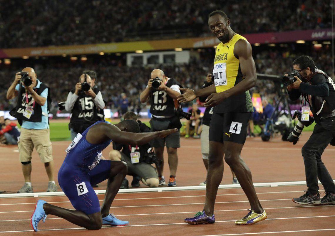 Sorpresa: Bolt terminó tercero en su última final de los 100 metros