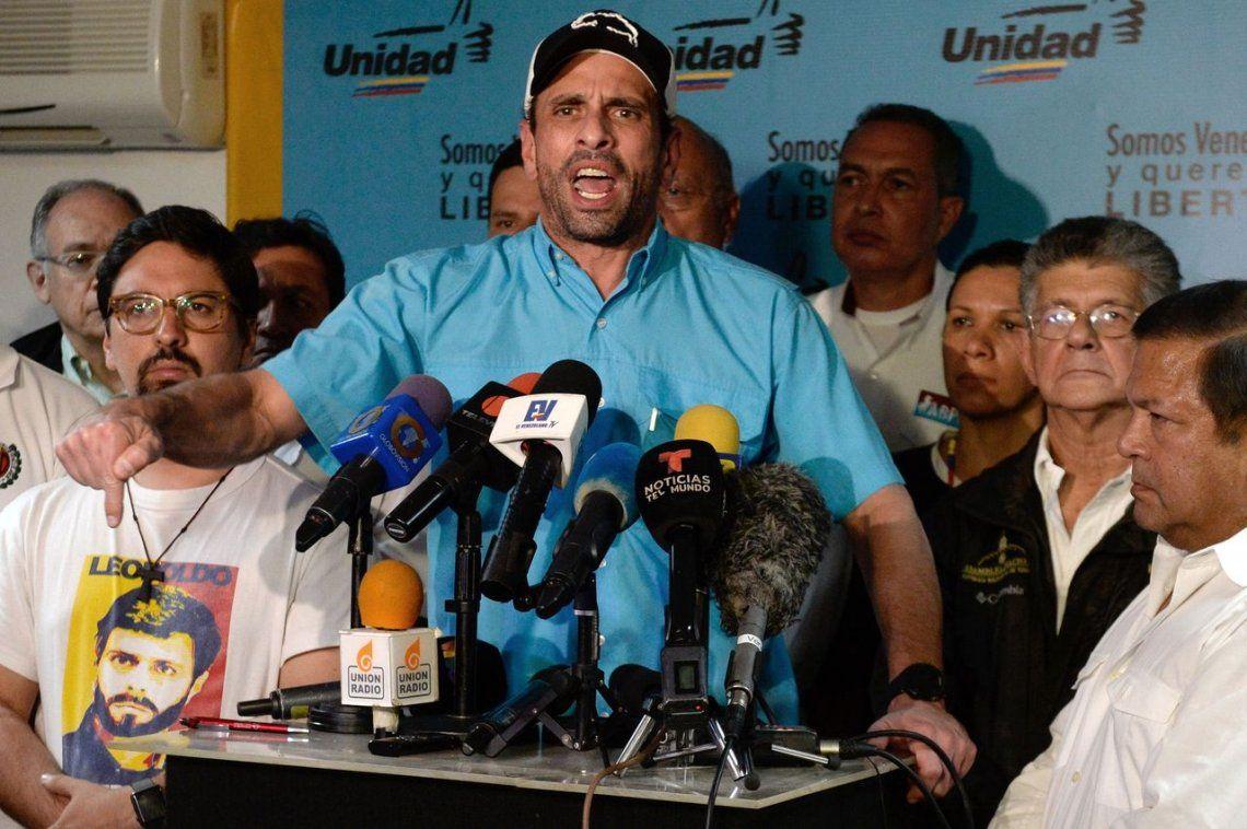 Capriles desafió a Maradona: Que venga y le muestro la situación de Venezuela